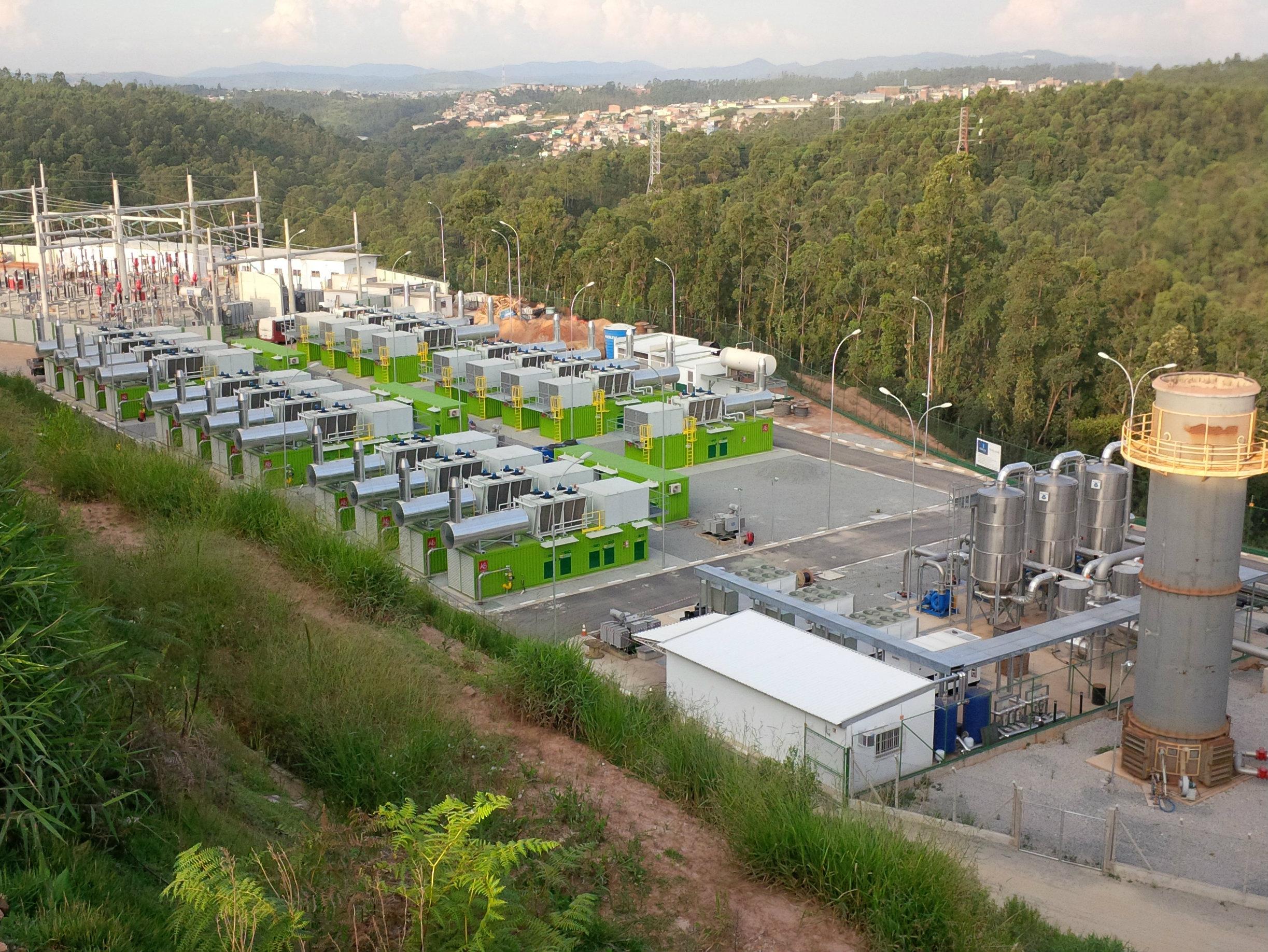 Usina de bioenergia em funcionamento no Brasil