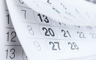 Pregrame-se para os eventos da semana