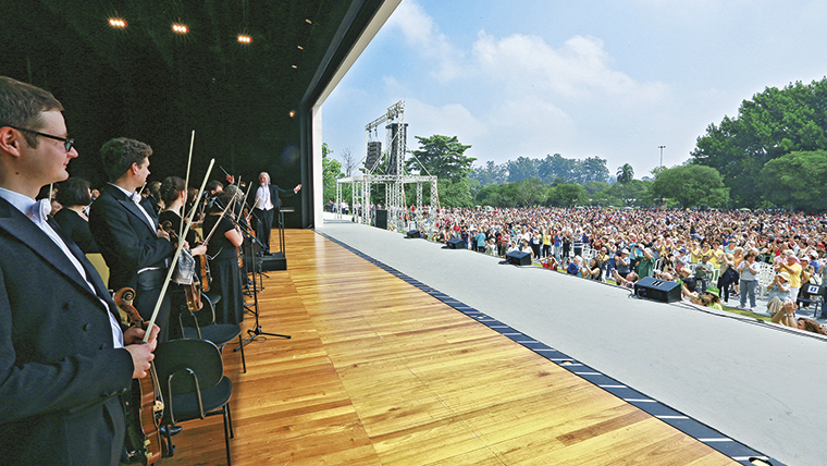 Concerto aberto promovido pelo Mozarteum Brasileiro