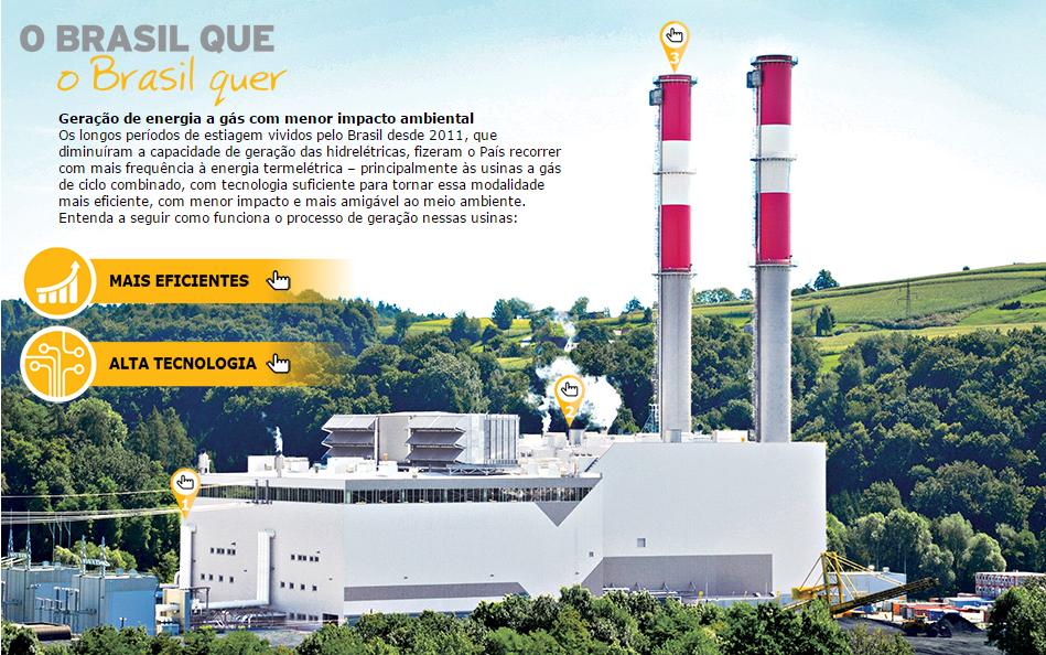 Geração de energia a gás com menor impacto ambiental