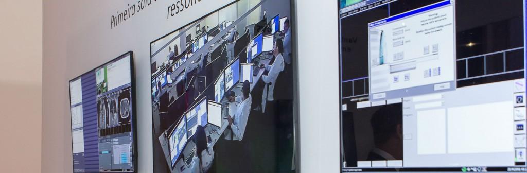 Sala de comando remoto permite realizar exames em qualquer lugar do Brasil